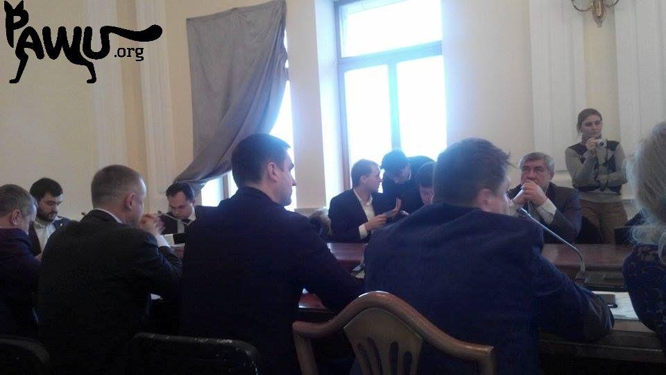 Sitzung in der Administration Kiew