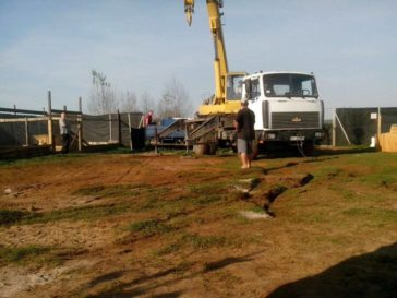 Bauarbeiten im Rifugio Italia Andrea Cisternino