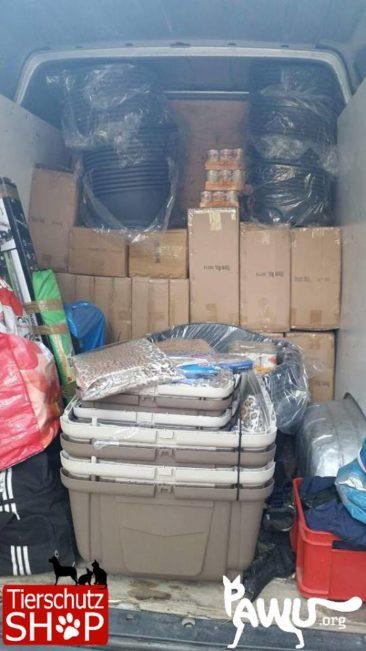 Tierschutzshop-Lieferung unterwegs in die Ukraine!