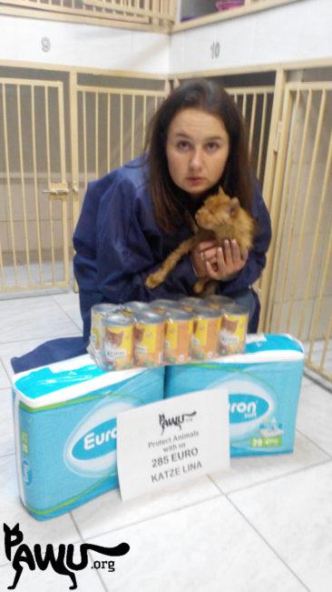 Spendenübergabe für Lina