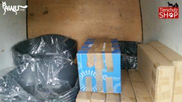 Weitere Lieferung vom Tierschutz-Shop unterwegs in die Ukraine