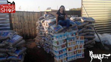 Futter und Trockenfutter vom Tierschutz-Shop in Ukraine angekommen