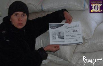 Übergabe Tierheim Gorlovka im Kriegsgebiet der Ukraine