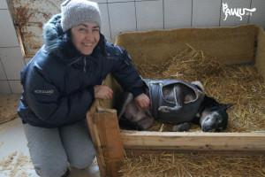 Die Liebe Alexandra, Leiterin vom Tierheim Sirius, hat heute Geburtstag 