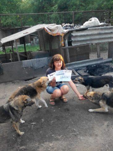 Hilfe für das Tierheim Lugansk im Kriegsgebiet der Ukraine.