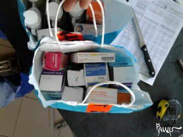 Medikamente & Körbchen in der Ukraine angekommen