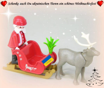 Schenke auch DU ukrainischen Tieren ein schönes Weihnachtsfest