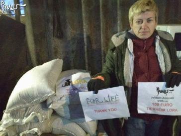 Hilfe für das Tierheim Lora in der Nähe von Kiew