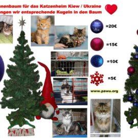 Und wieder sind eine Reihe von Spendenkugeln, für unseren Tannenbaum dazu gekommen♥